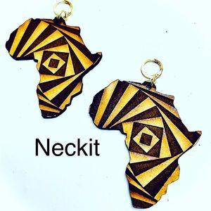 Handmade Laser Cut Africa Map Earrings